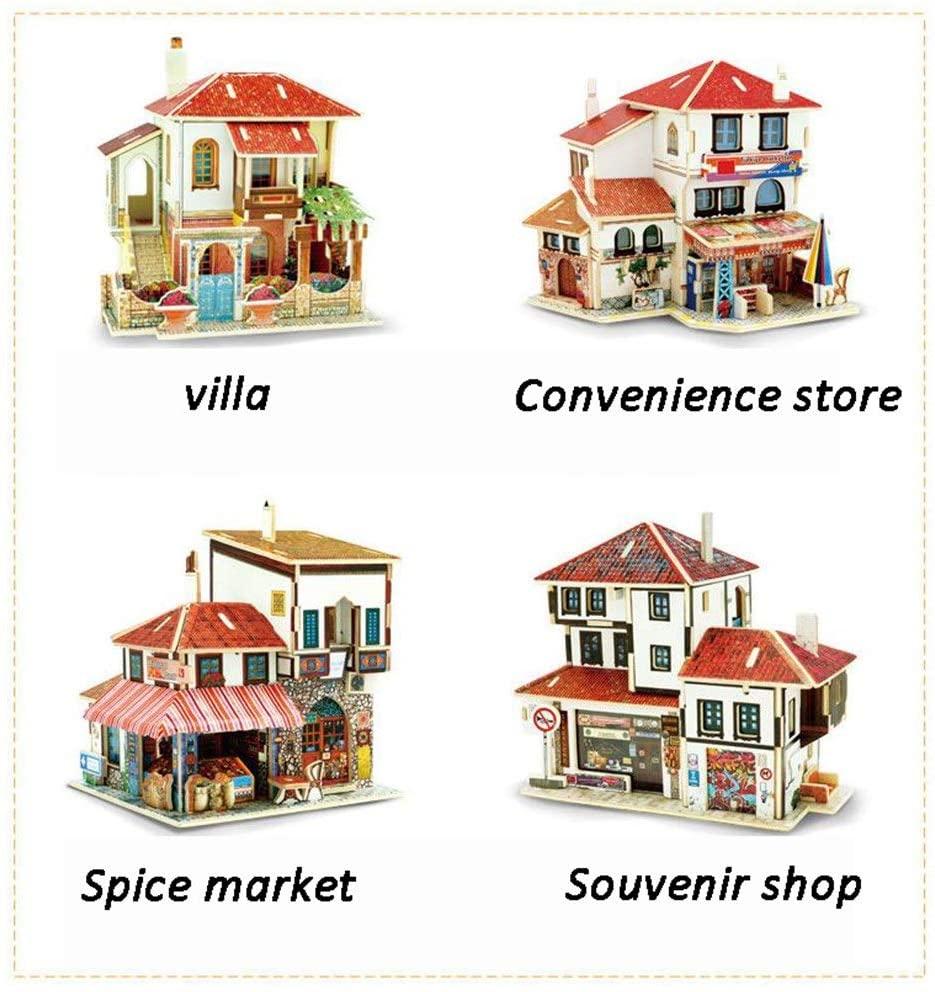 PUEEPDEE DIY House DIY Miniature Room Set-Woodcraft Construction Kit-Wooden Model Building Set-Mini House Crafts,Best Birthday Gifts Furniture DIY Miniature Dollhouse