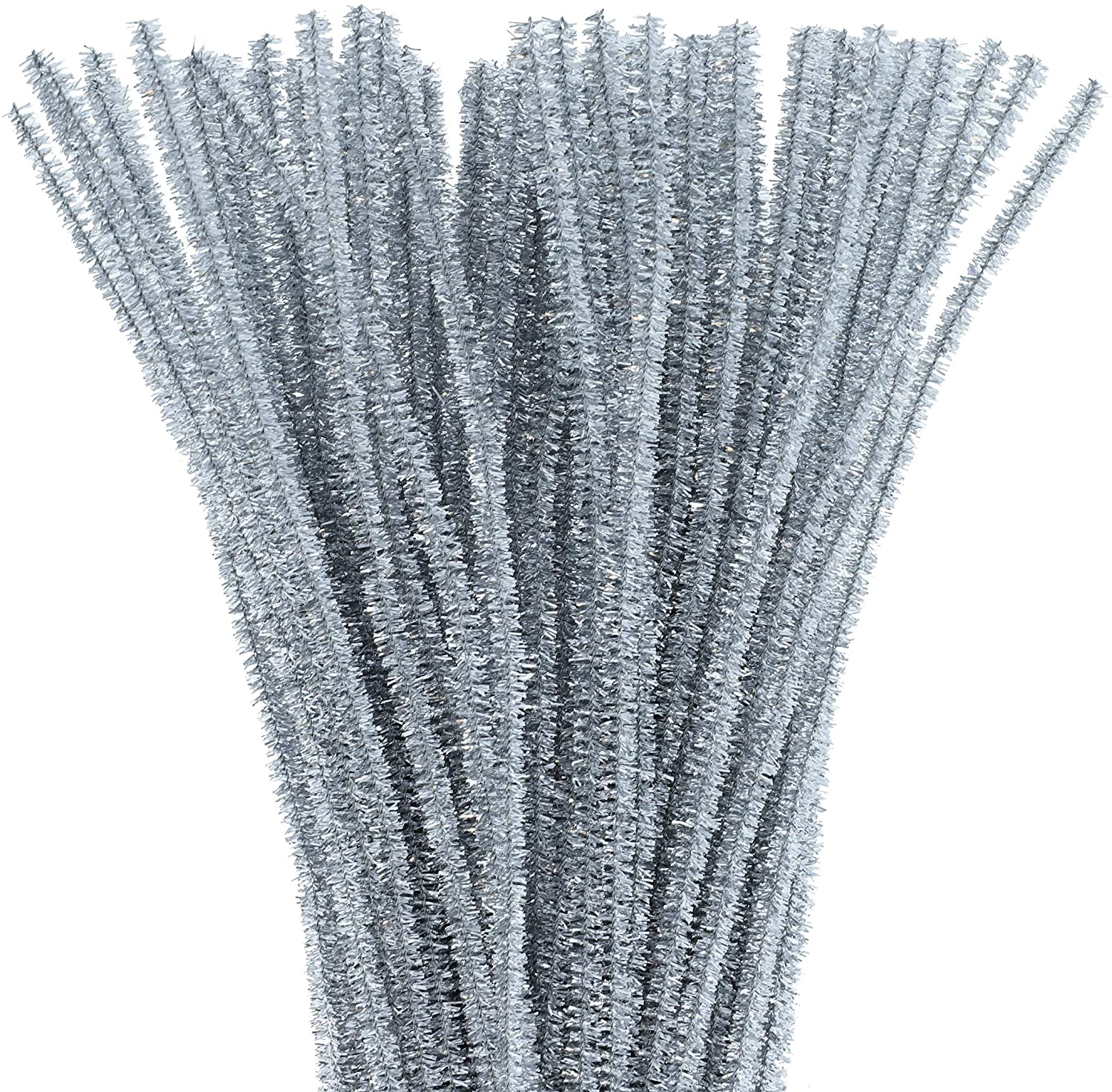Juvale Silver Chenille Stems Pipe Cleaners for DIY Crafts (500 Count)