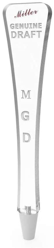 FixtureDisplays Clear Acrylic Beer Tap Handle Draft Pub Style Miller Genuin Draft MGD 14102 14102!