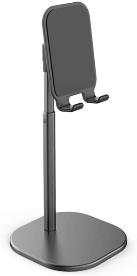 Portable Angle Height Adjustable Phone Stand Holder for Desk, Compatible with All Mobile Phones (Black)