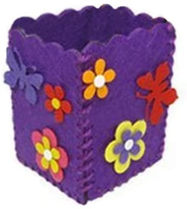 George Jimmy Childrens Felt Craft Kits Hand Made Pen Holder - Square Purple