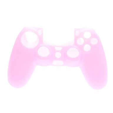 2 PCS Mushroom Caps and 2 PCS Pink Thumb Stick Grips and 1 PC Silicone Case(Pink)