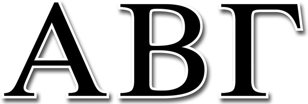 Creative Teaching Press Greek Letters 5-Inch Designer Letters (CS91501), BLACK
