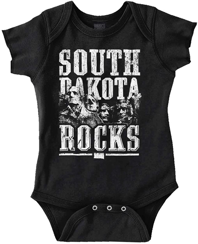 South Dakota Rocks SD State Mount Rushmore Baby Romper Bodysuits