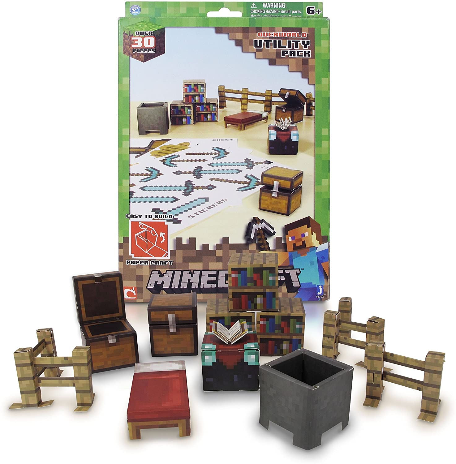 Minecraft Papercraft Utility Pack, Over 30 Pieces