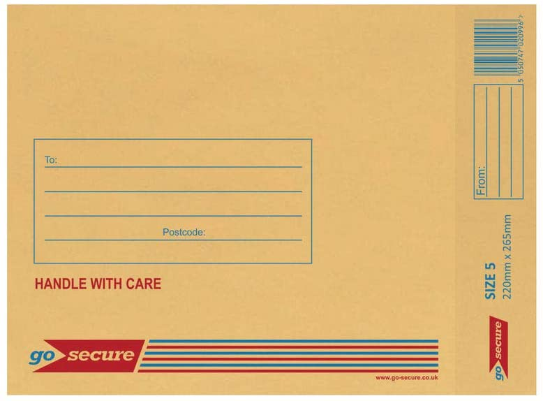 GOSECURE Size 5 Bubble Envelope - Brown (Pack of 100)