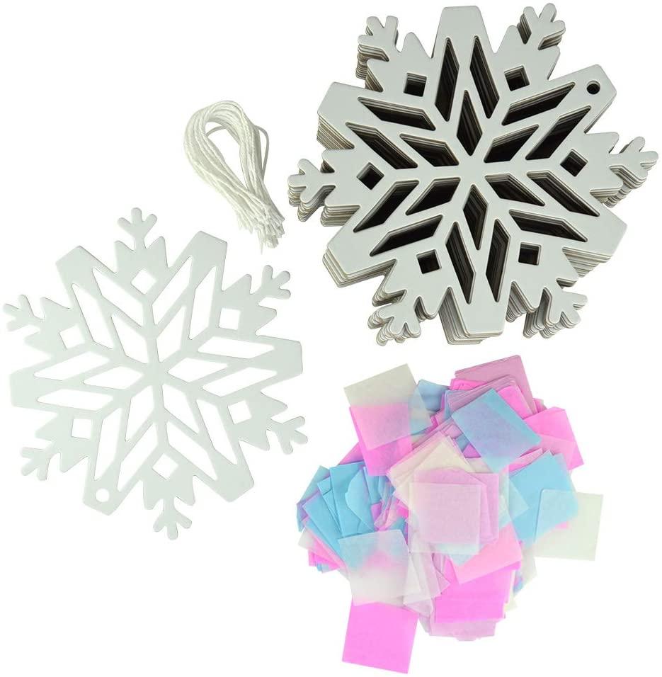 Kipp Brothers 24 Pack DIY Suncatcher Paper Crafts (Snowflake)