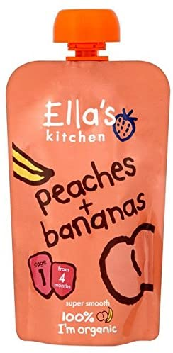 (12 Pack) - Ellas Kitchen - S1 Peaches & Bananas | 120g | 12 Pack Bundle