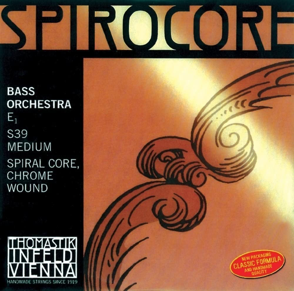 Thomastik-Infeld S40W Spirocore, Double Bass String, Single Low C String, Weich (Light), 4/4 Size, Steel Core Chrome Wound