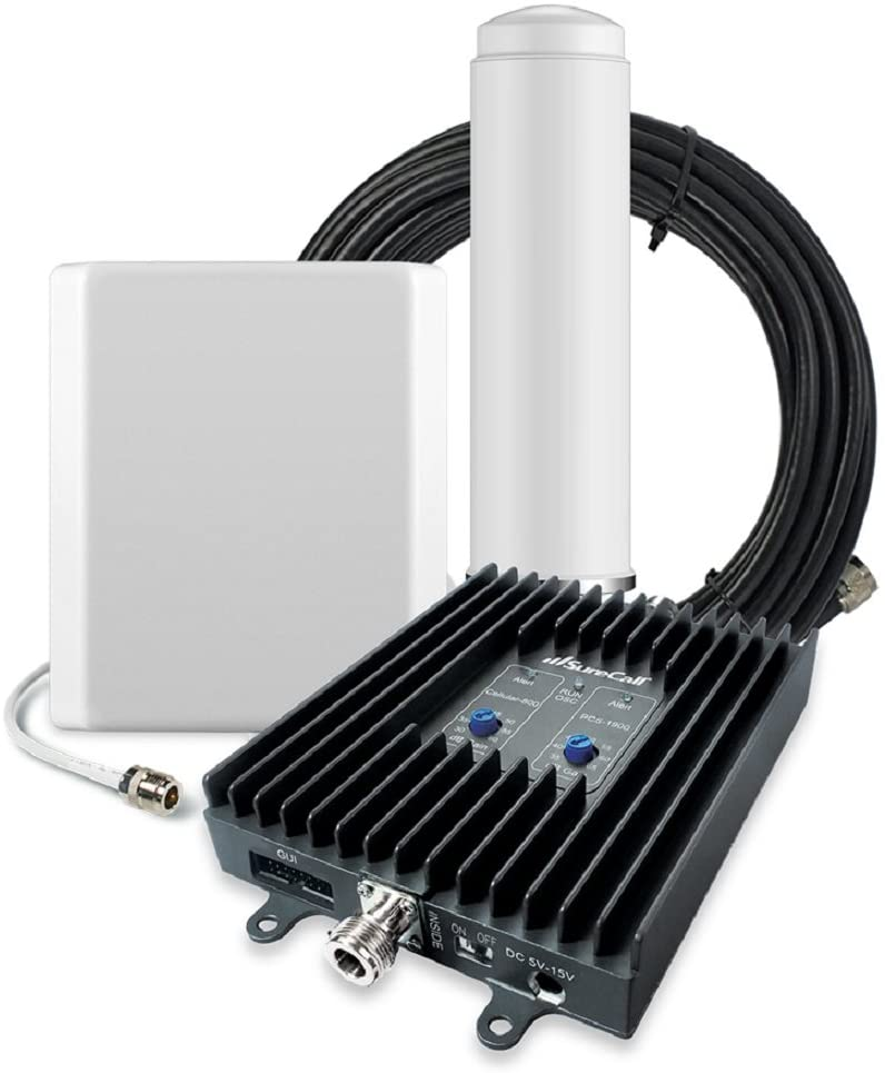 SureCall Flexpro Omni/Panel, Dual Band Cell Phone Signal Booster Kit for All Carriers up to 6,000 Sq Ft