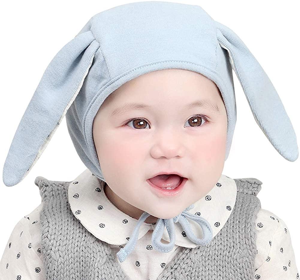 IMLECK Baby Bonnet Cap Soft 100% Cotton Knit Infant Beanie Pilot Hat