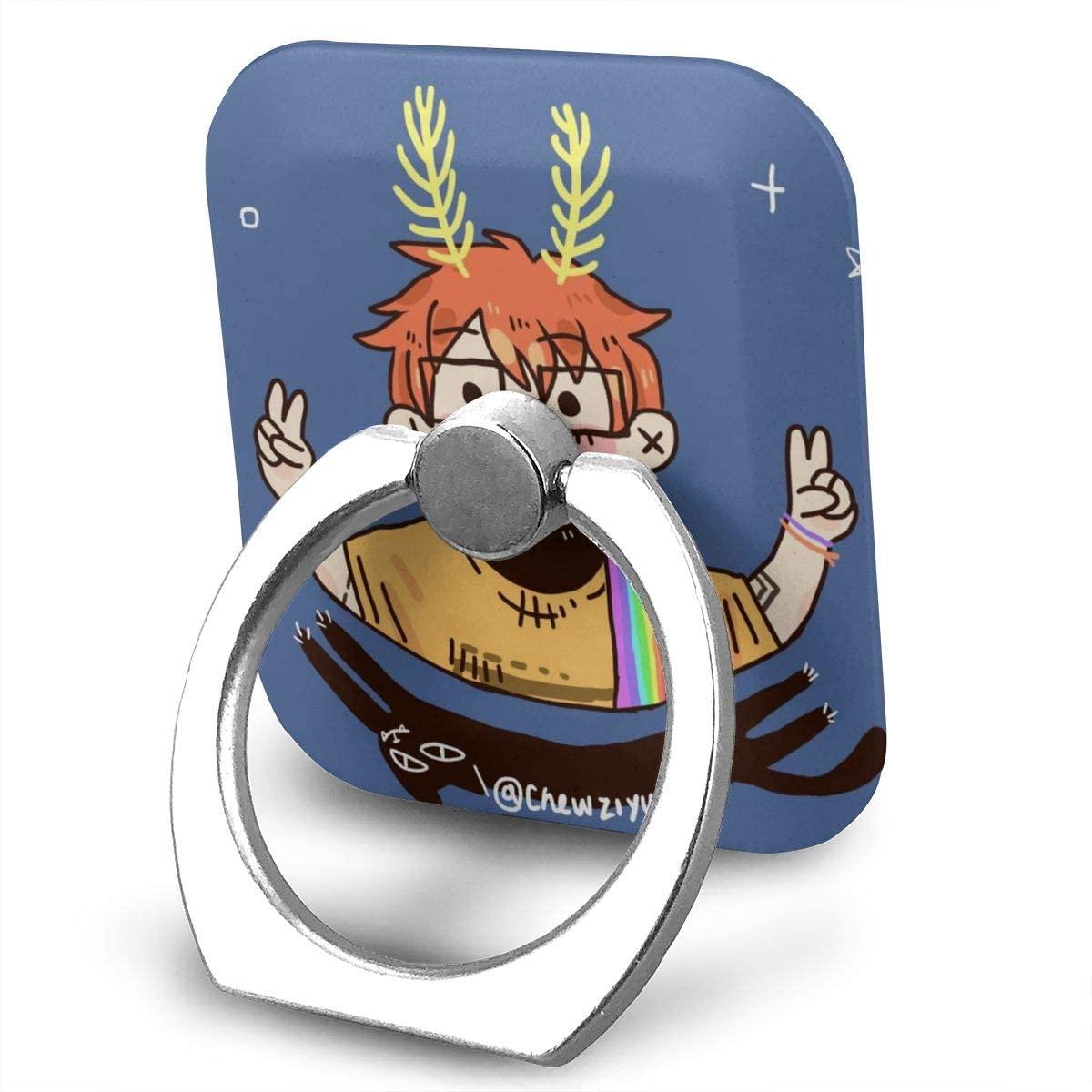 Cavetown Phone Finger Ring Stand Bracket Holder Smartphone Grip Stand Holder 360 Degree Rotating Sticky Cute