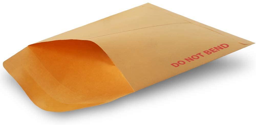 Fosmon Catalog Envelopes, 7.5 x 10.5 (Usable 7.5 x 10.5) Gummed Kraft Secure Mailing for Documents - 250 Pack
