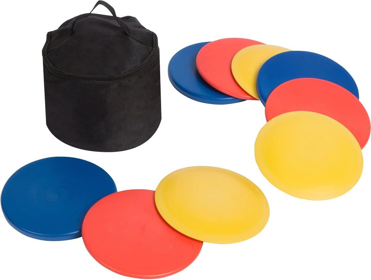 Trademark Innovations Disc Golf Set (9 Discs) with Disc Golf Bag