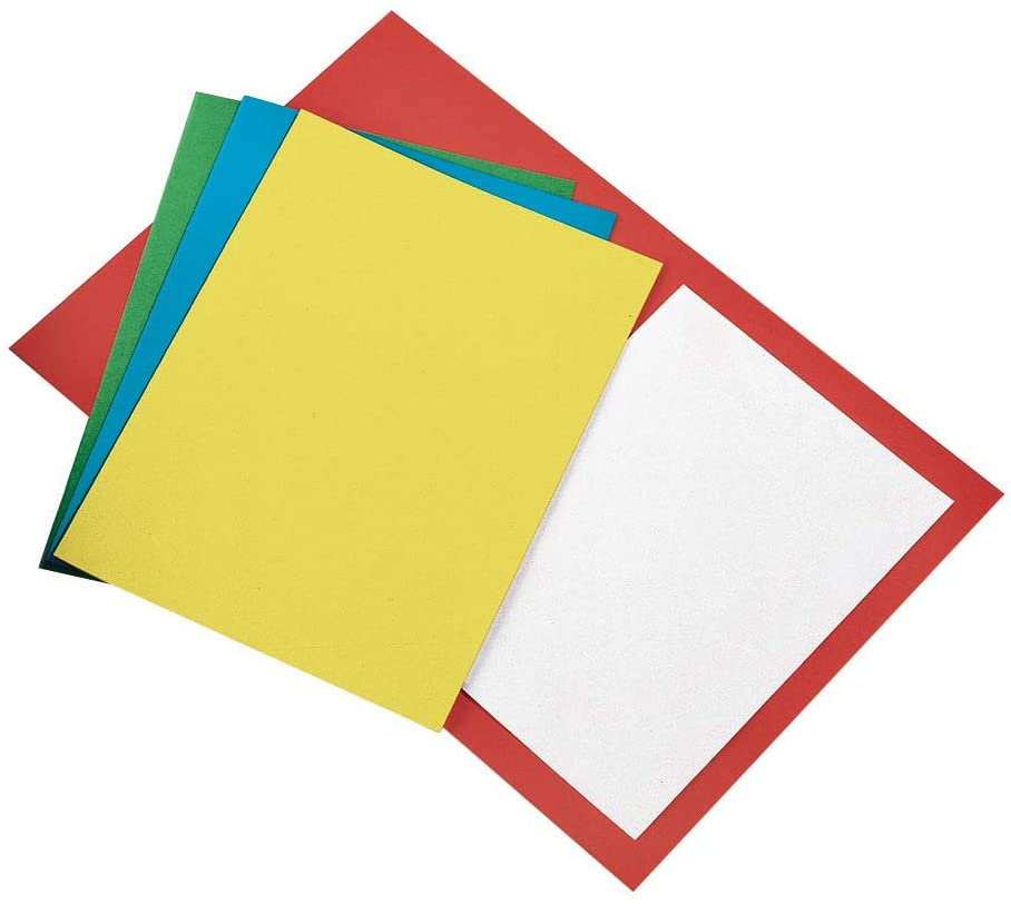Bristol Simple Folders 25 x 34 cm 270 g Orange Pack Pack of 50.