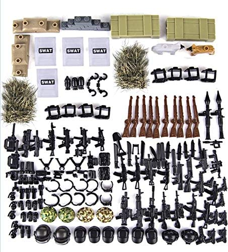 General Jim's Toy Weapons Pack for Minifgures - Minifig Weapons Toy Set (267 Pieces)