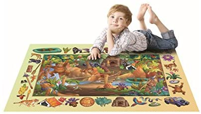 House of Kids 11261-E2 100 x 150 cm Discoveries Jungle Play Mat