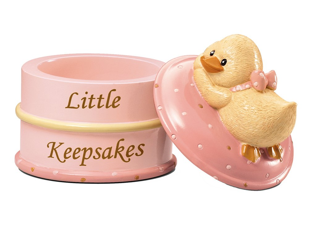 Russ Berrie Keepsake Box, Pink (Discontinued by Manufacturer)