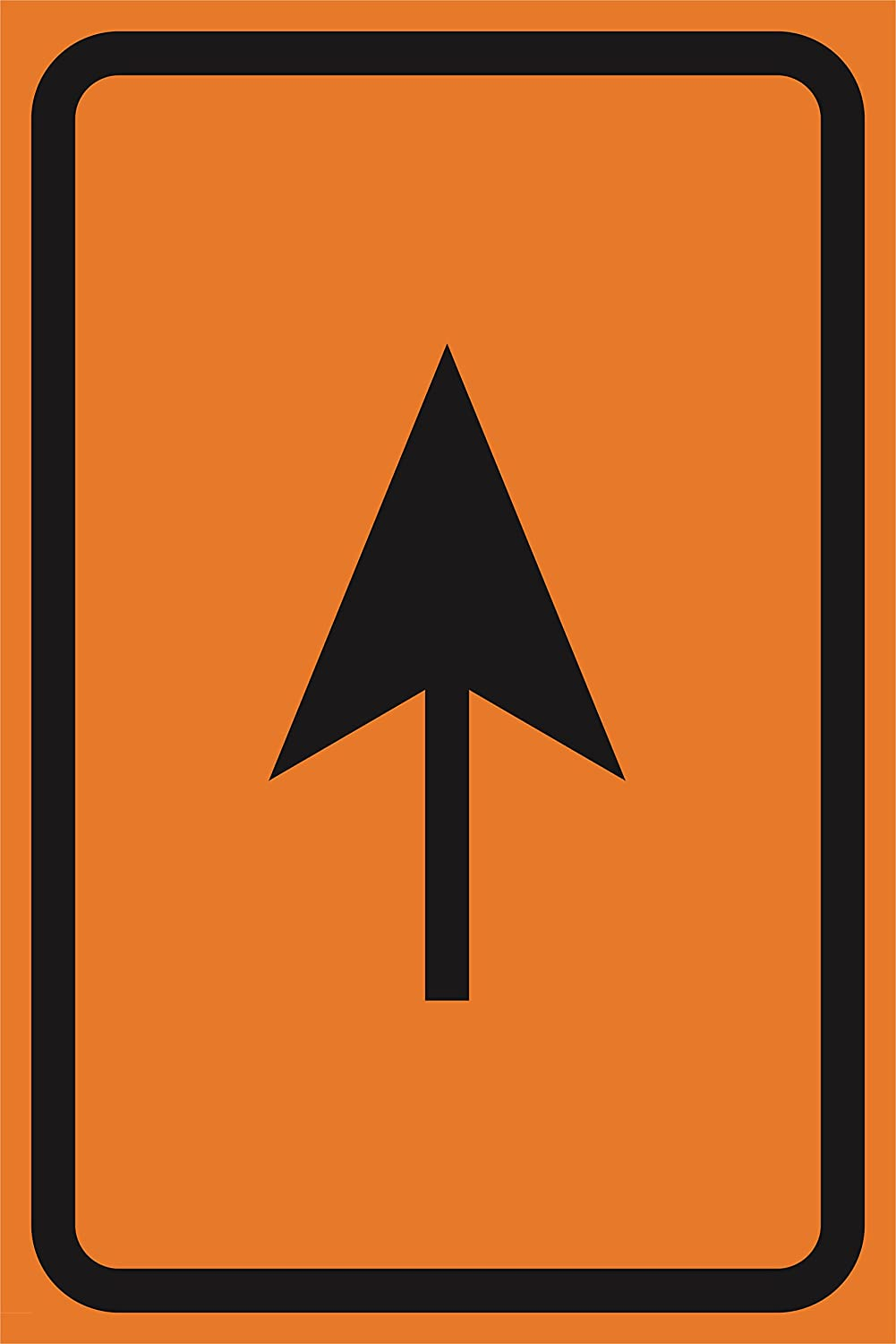 4 Pack - Up Ahead Arrow Orange Construction Zone Safety Street Road Warning Business Signs Commercial Plastic Sign Metal Aluminum