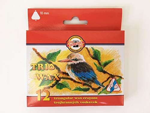 Koh-I-Noor 8272012002KS Wax Crayons, 125 x 123 x 12 mm, Various