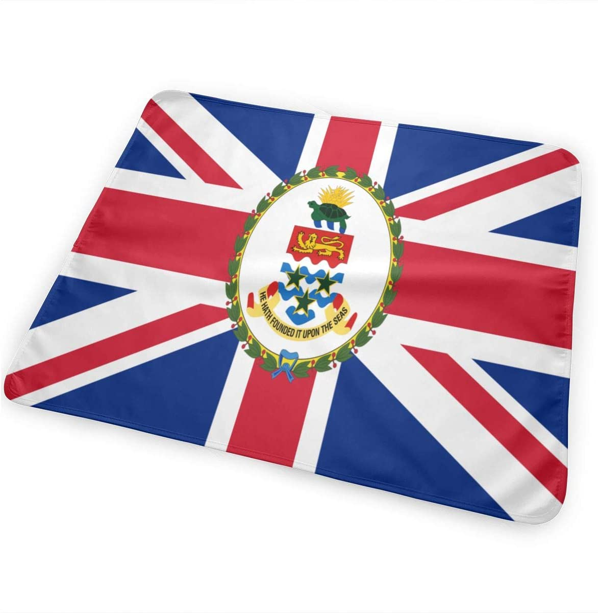 Flag of The Cayman Islands Breathable Urine Mat Waterproof Changing Pad for Baby Washable Mattress Pad Sheet Protector