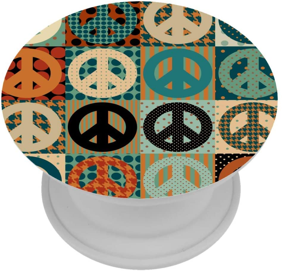 Peace Sign Pacific Symbol Phone Accessory Grip and Stand for Phones and Tablets
