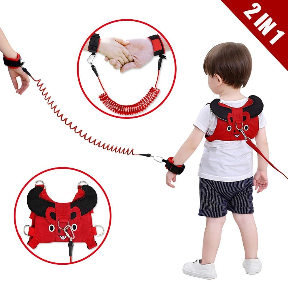 Child Anti Lost Leash Toddler Leash Harness, Cute Safety Harness Belt Strap Hold Kids While Walking for Boys and Girls Fits 1-5 Years Old,C