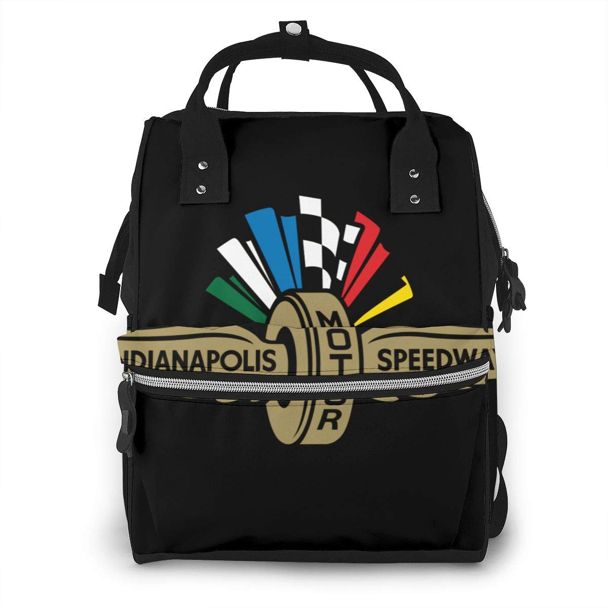 Indianapolis Race Car Diaper Bag Waterproof Travel Backpack Bags for Baby Care Mummy Backpack