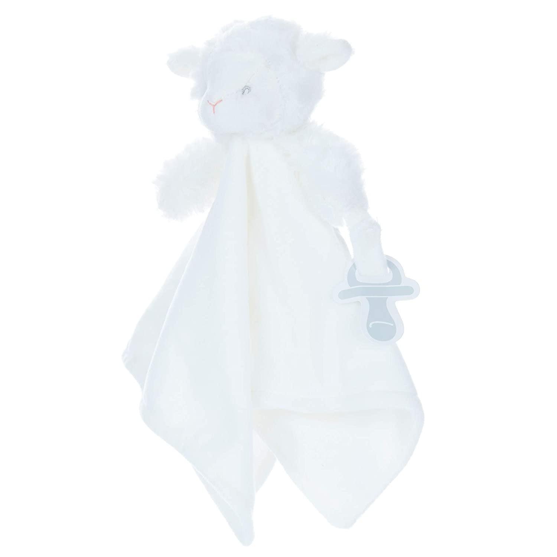 Carter's Lamb Plush Stuffed Animal Snuggler Blanket - White