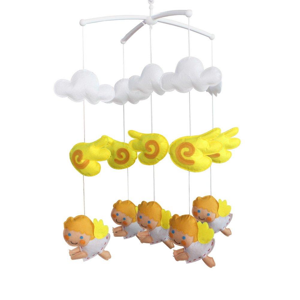 Baby Toys Nursery Decor Funny Newborn Crib Bell Random Music Box (Mozart Lullaby or Brahms Lullaby)-E09