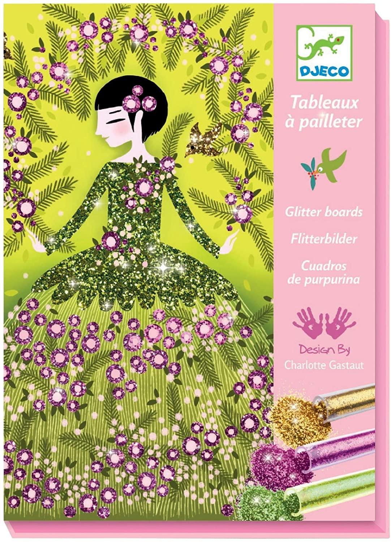 DJECO Colored Glitter Art Kit, Dresses (DJ09500)