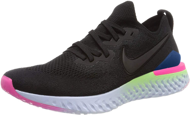 Nike Epic React Flyknit 2 Men's Running Shoe Black/Black-Sapphire-Lime Blast 15.0