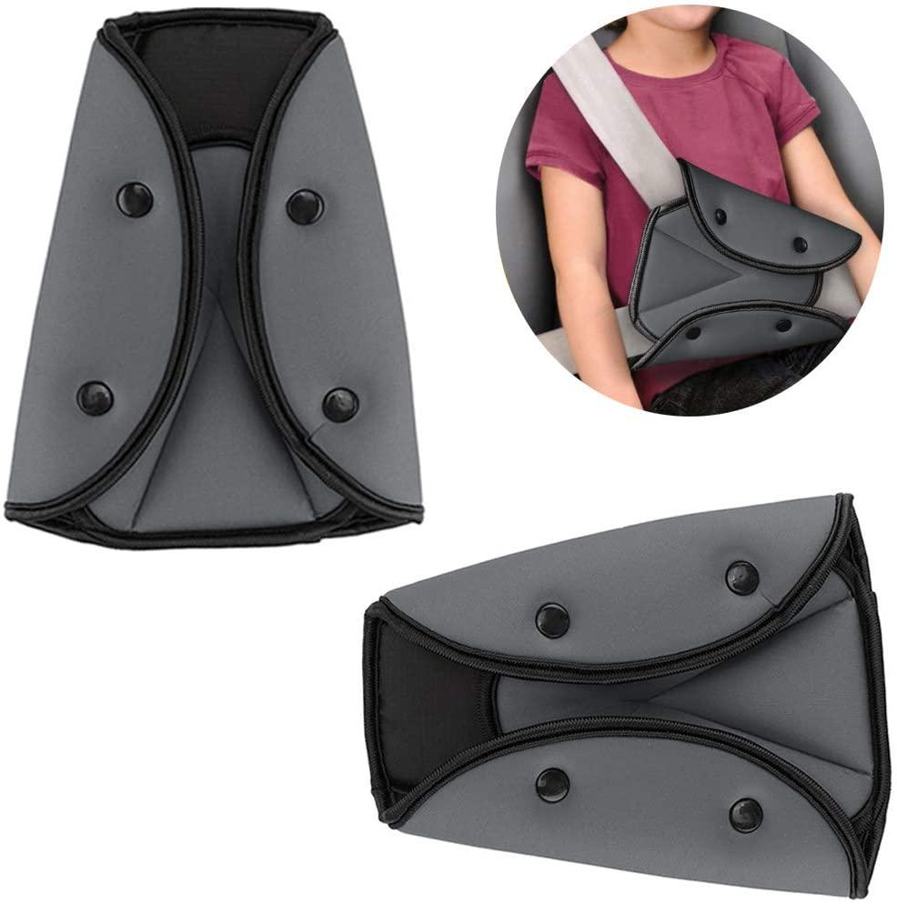 Seat Belt Adjuster for Kids Car,2 Pack Seatbelt Positioner for Adult,Seat Belt Adjuster for Short People,Auto Shoulder Neck Safety Strap Adjuster,Universal Seatbelt Locking Covers for Children,Toddler