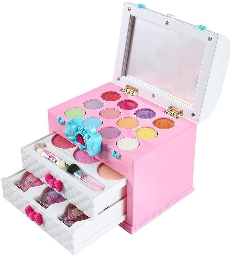 Dappre Girl Play Makeup Set Cosmetic Kit Toy with Box for Children Gifts