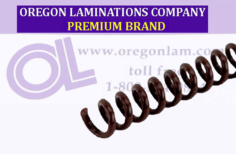 Spiral Binding Coils 7mm (9/32 x 15-inch Legal) 4:1 [pk of 100] Dark Brown (PMS 440 C)