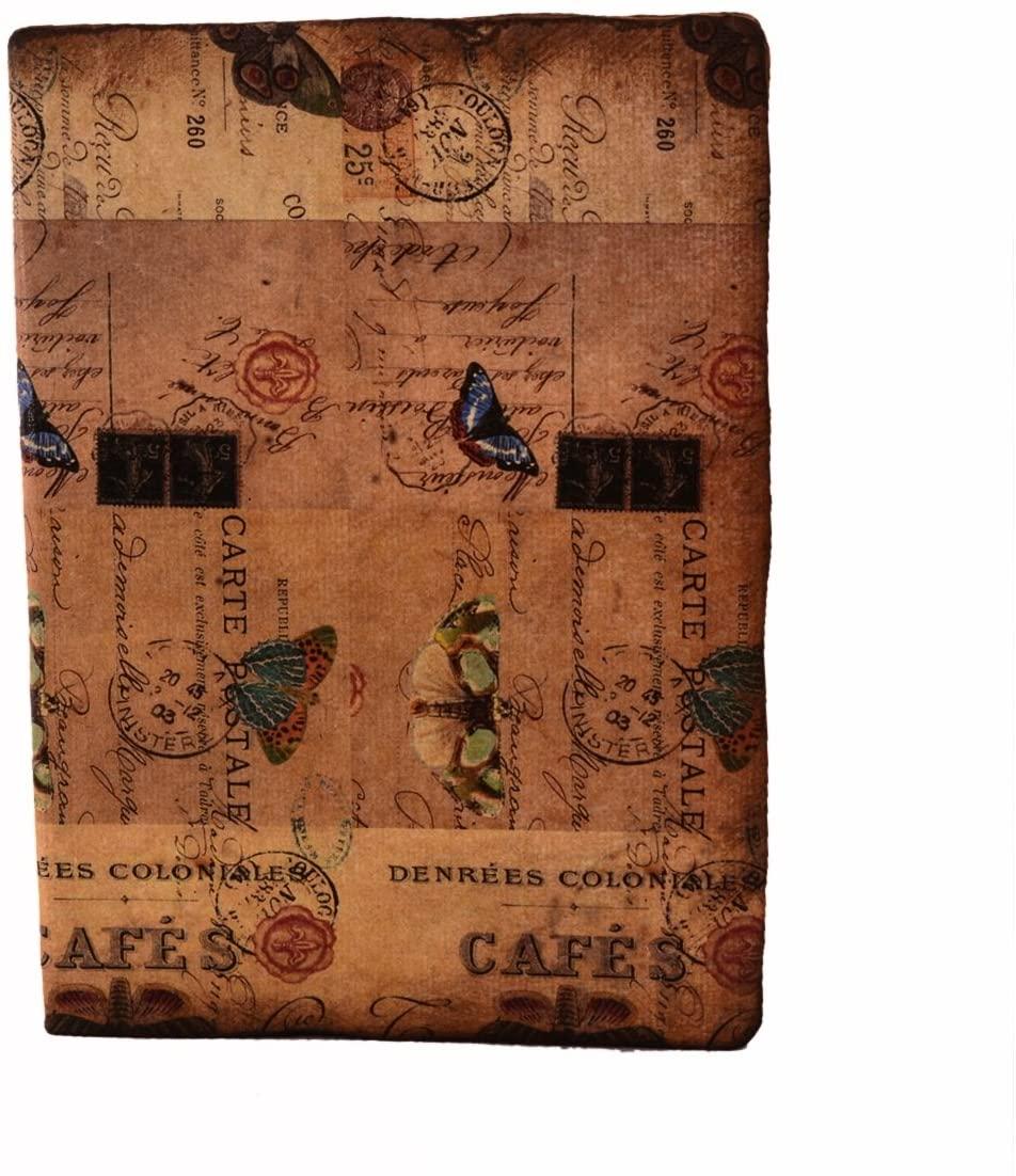 Purpledip Handmade Journal (Vintage Diary) 'Rainbow Romance': Fire Burnt Handmade Paper Notebook; Unique Gift For Personal Memoir (11118)
