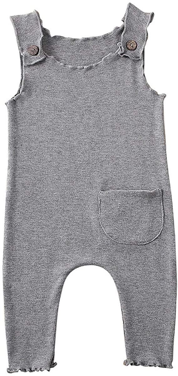 Douhoow Unisex Baby Boy Girl Cotton Overalls One-Piece Footies Pajamas Long Sleeve Sleepwear