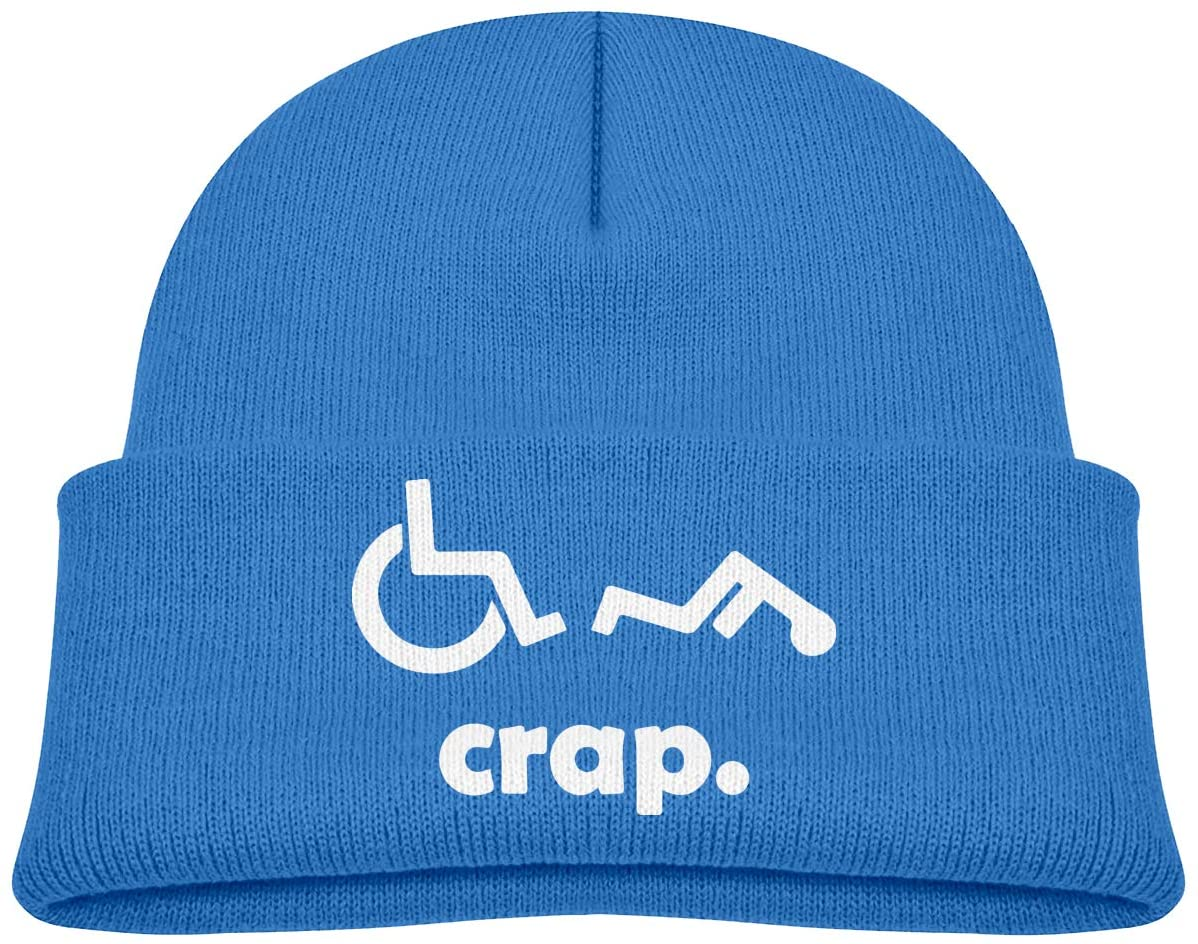 Crap Handicap Funny Wheelchair 1 A Cute and Thick Stretch Cap Suitable for Children's Winter Warm Baby Cap