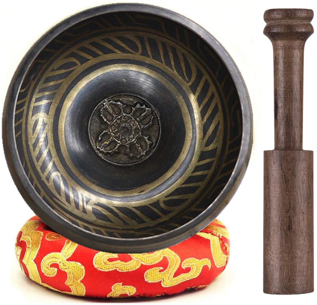 "Singing Bowls Meditation Set 4.3"" ~ Tibetan Singing Bowls ~ Singing Bowls for Healing ~ Stress&Anxiety Relief Gift ~ Spiritual Gift for Therapy ~ Sound Meditation&SoundBath for Mindfulness"