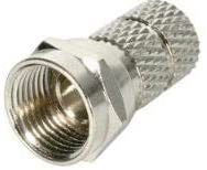 20 Pack - F Male Twist on Connector for RG6