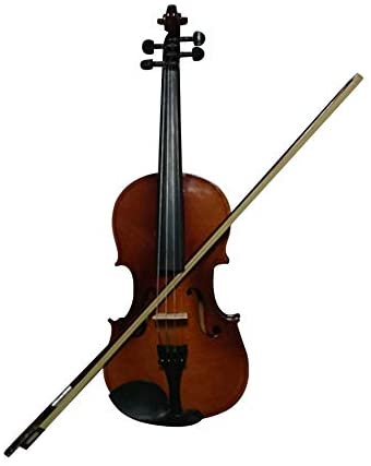 Student Acoustic Violin Maple Spruce with Case Bow Rosin Wood Color (1/4)
