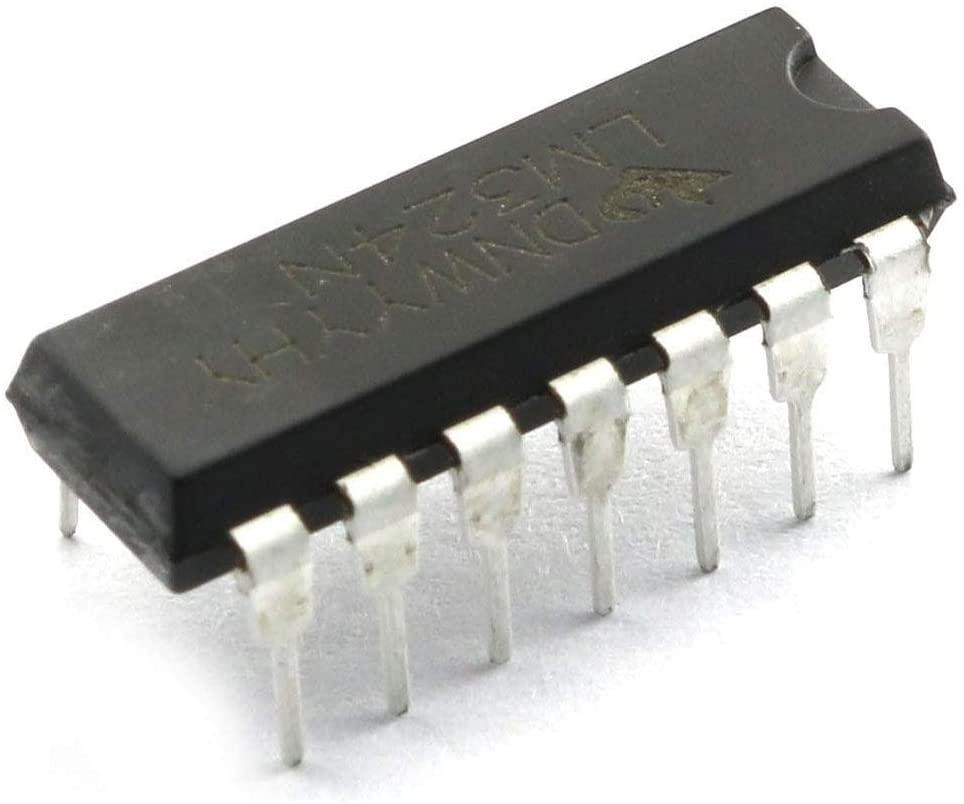 Tegg LM324N 10PCS LM324 DIP14 Quad Op-Amp Quadruple Operational Amplifier