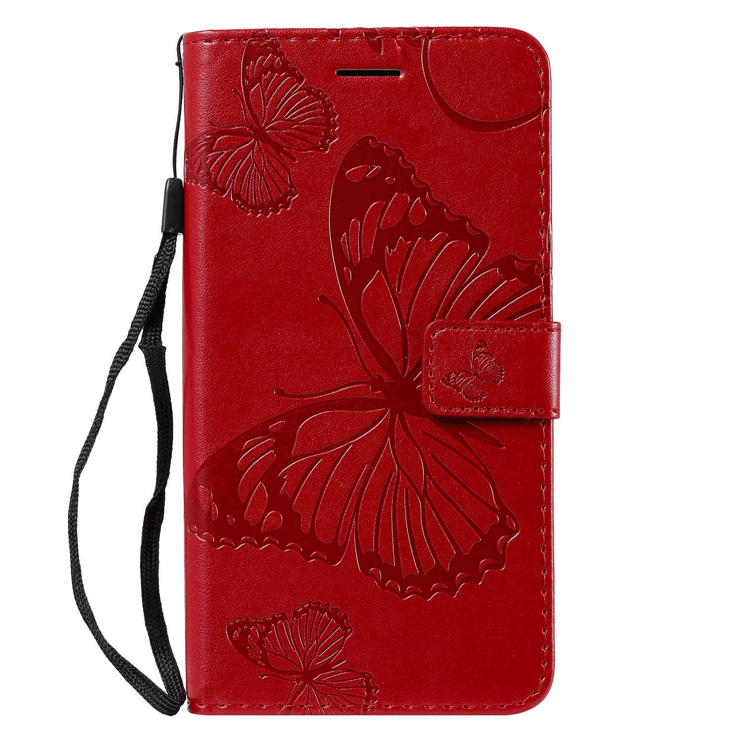 Positive Cover Compatible with Samsung Galaxy S20 Ultra, red PU Leather Wallet Flip Case for Samsung Galaxy S20 Ultra