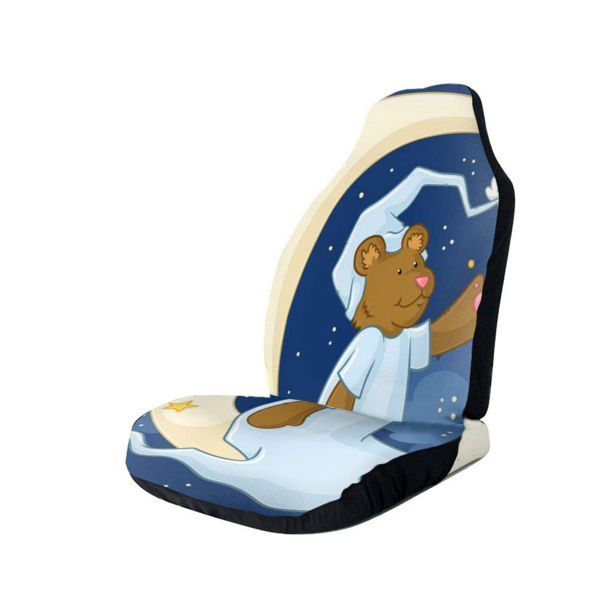 Car Seat Cover, Universal Car Seat Covers, Marvellous The Little Bear Seat Covers Universal for Front Seat, Automobile Seats Protector Fits Most Car Trucks SUV