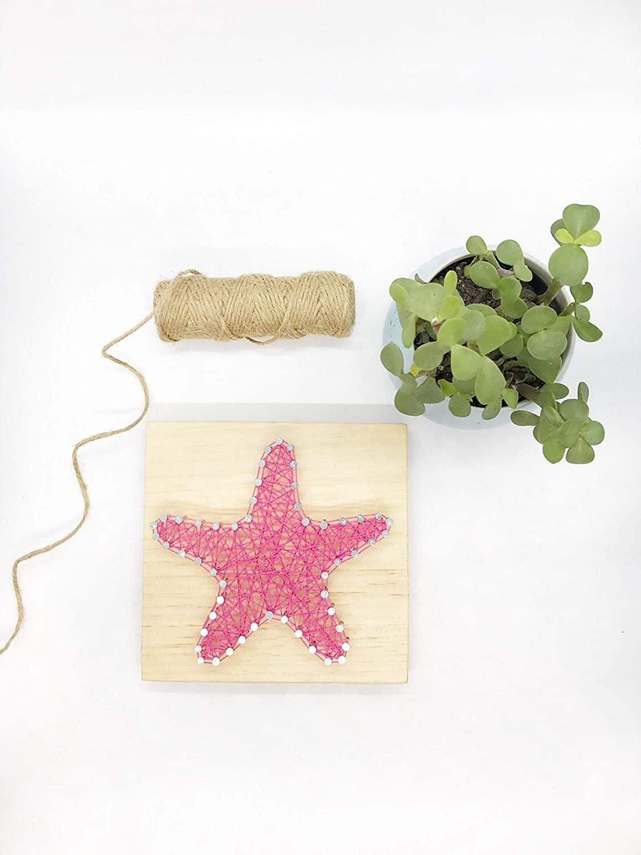 Timber+Vine Designs 6x6 Inch DIY Starfish String Art Kit, Kids Craft Kit, Do It Yourself Kit, DIY Kit, All Ages