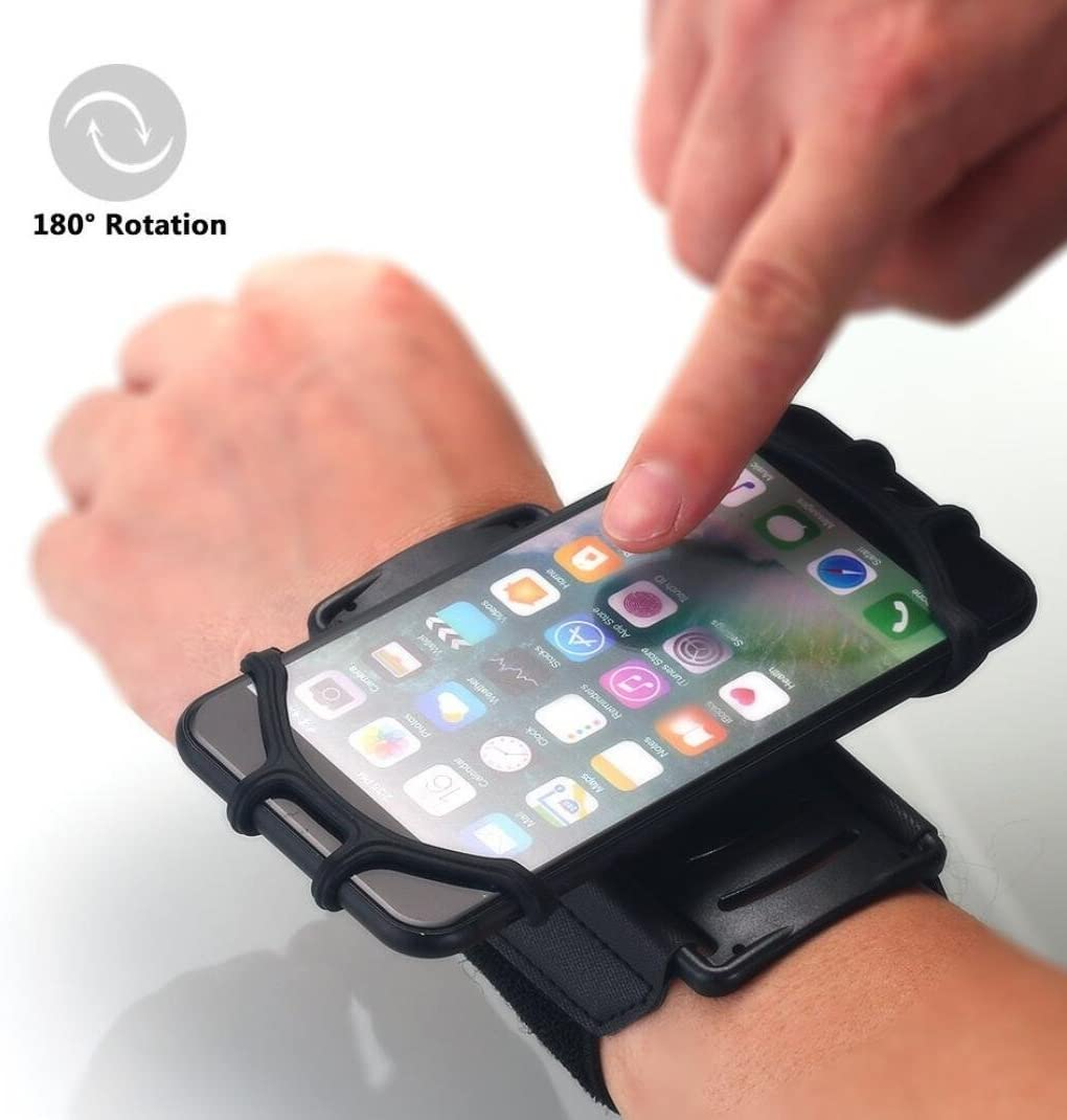 Omio Sport Wristband Cover Case Outdoor Runing Workout Fitness Cycling Portable 180 Rotary Wrist-Mounting Band For iPhone XS/X/8/8 Plus/7/7 Plus Galaxy Note 9/8/S8/S8 Plus/S9/S9 Plus Fit 4 to 6.3 inch