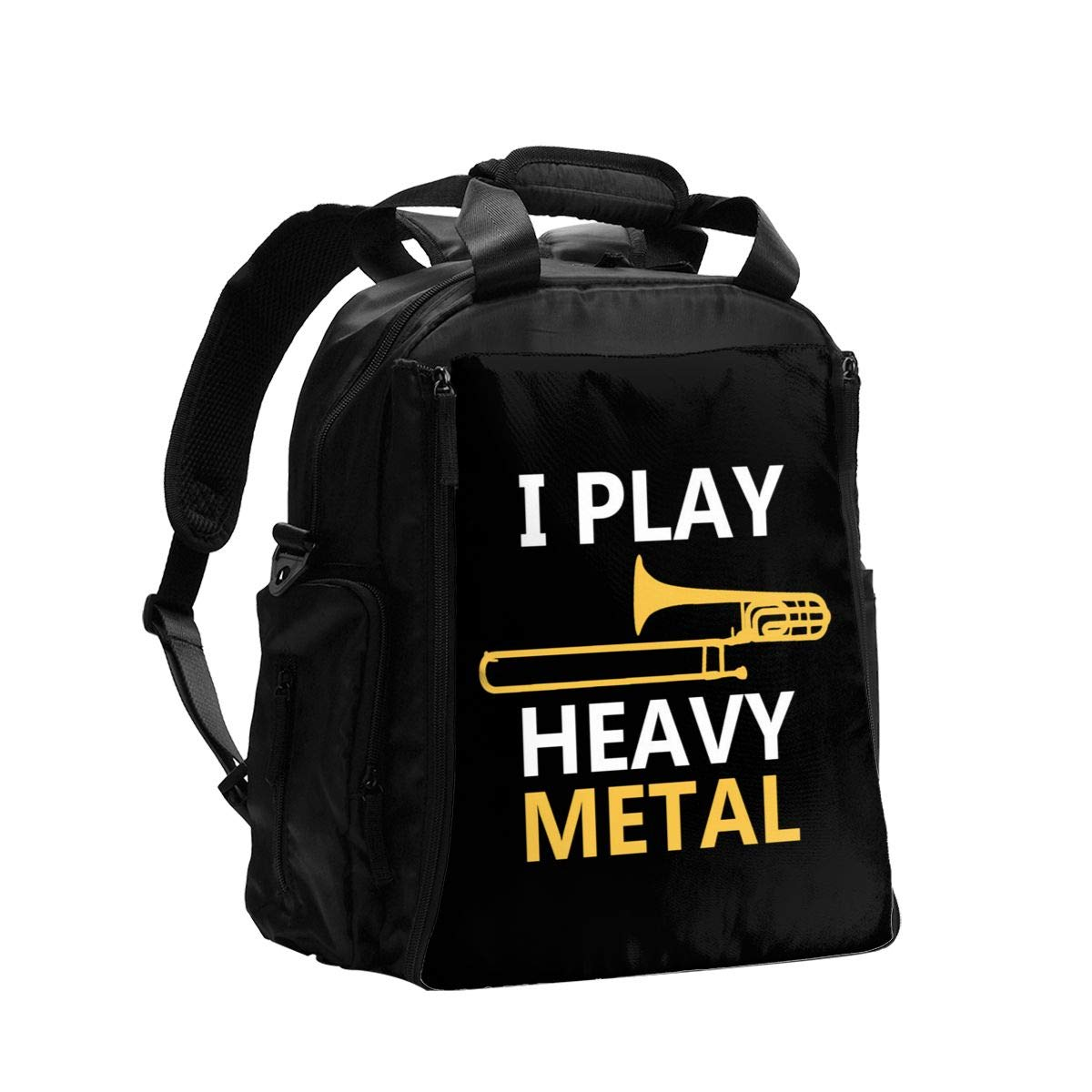I Play Heavy Metal Diaper Bag Backpack Travel Backpack Maternity Baby Changing Bags