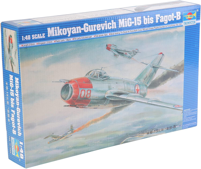 Trumpeter 1/48 Mig15 Bis Fagot B Fighter Model Kit