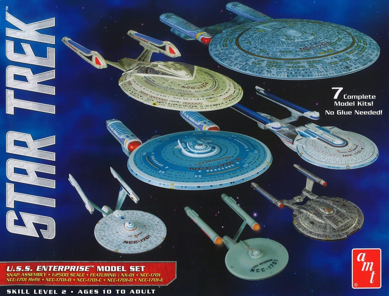 AMT Star Trek U.S.S. Enterprise Box Set 1:2500 Scale Snap Model Kit