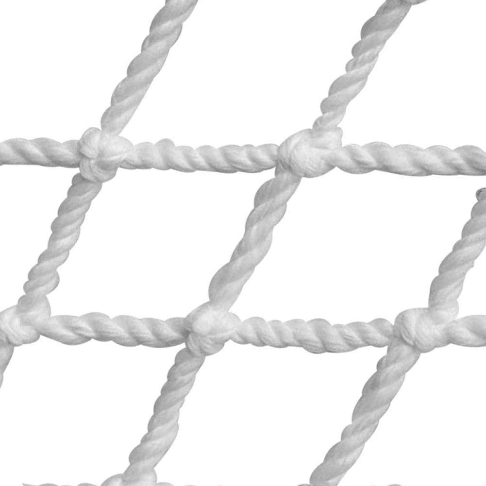 PHBWZ White Building Safety Net Rope Net Children Staircase Balcony Protective Net Isolation Falling Net Nylon Net Fence (Color : Color, Size : 3X4M(10X13FT))